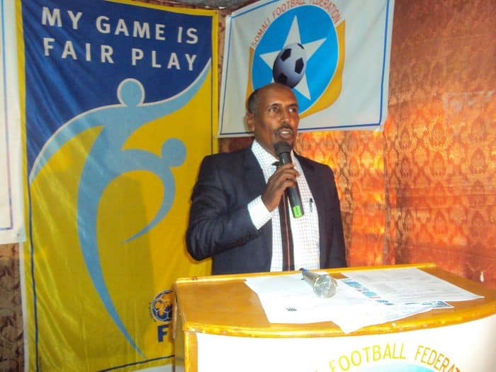 SFF deputy president for regional development Abdullahi Abow Hussein