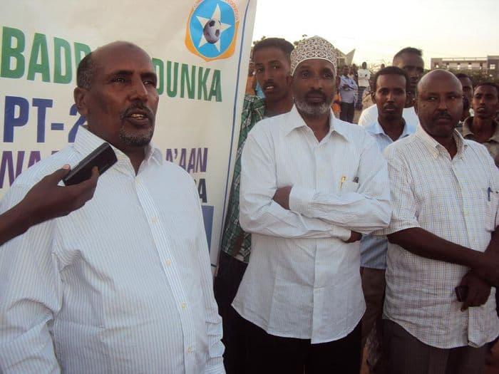 Somali FA deputy president Abdullahi Abow Hussein