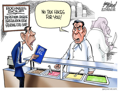 Boehner The Soup Nazi Controls The Kitchen Now, What Goes Around Comes Around, Mr President