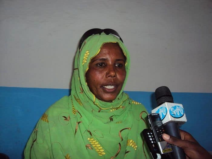 Somali Athletics federation senior vice president Khadija Aden Dahir