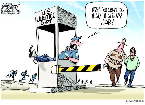 Justice Department Rightfully Pings Sheriffs For Encroaching On Their Job