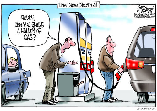 The New Normal: Too Poor To Buy A Gallon Of Gas