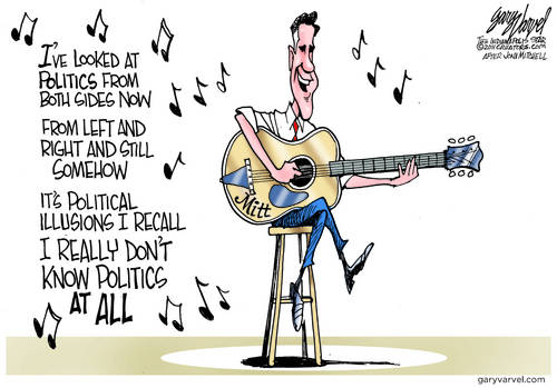 Unable To Work Out The Politics, Mitt Takes Up Solo Singing