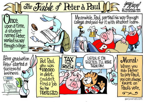 When You Rob Peter To Pay Paul, You Can Count On One Vote