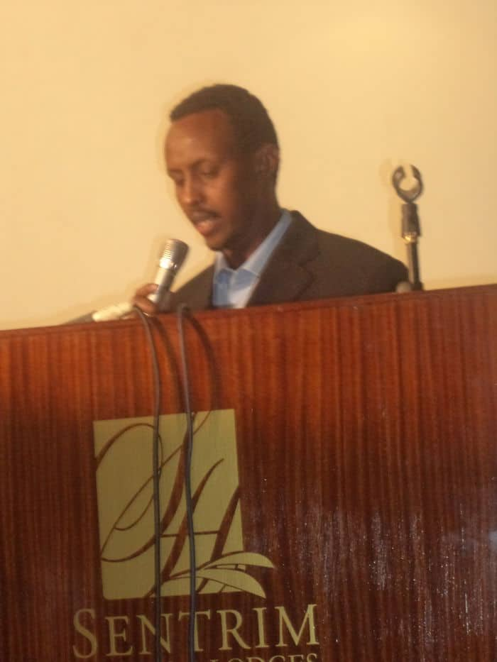 Mohamed Ali Aasbaro, a member of the National Union of Somali Journalists
