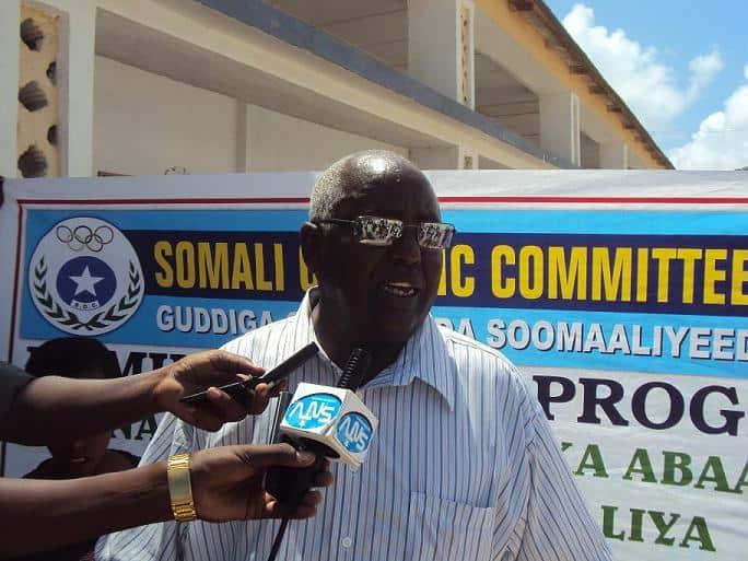 NOc president Aden Haji Yeberow