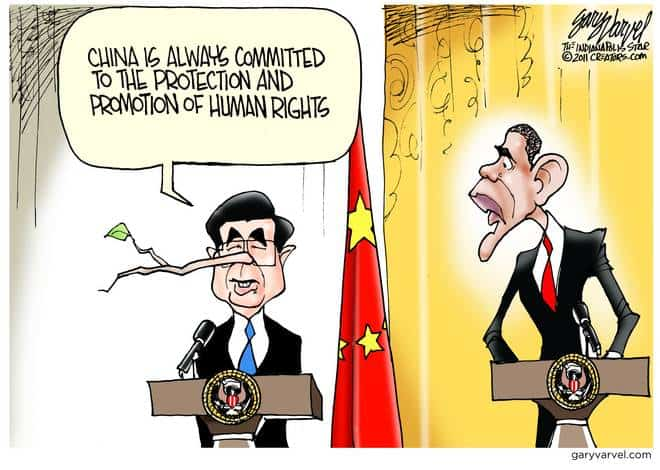 Obama Prompts Hu on Human Rights, Hows That Working For You?