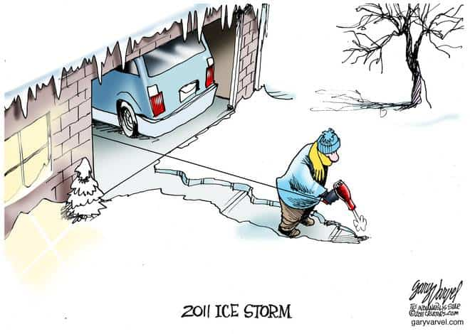 Coping With Ice Storm In The Burbs Not Easy