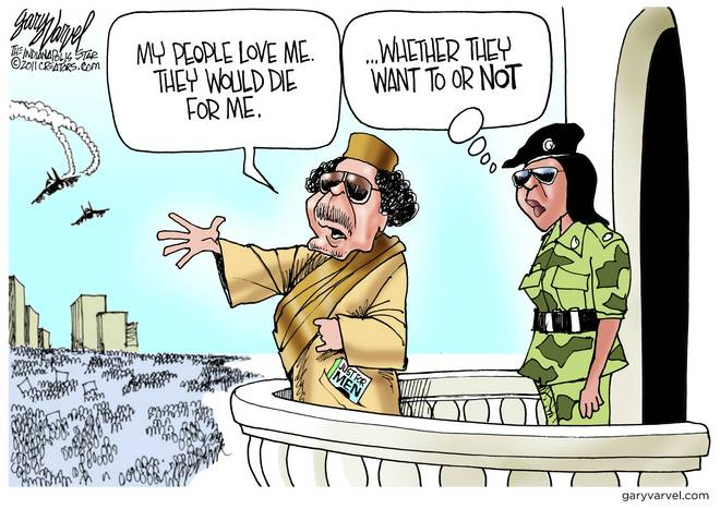 Gaddafi Delusional - Nothing New