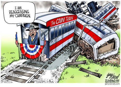 Major Train Wreck Has Cain Reassessing Campaign