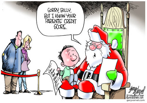 Is Nothing Sacred? Santa Wants Your Credit Score