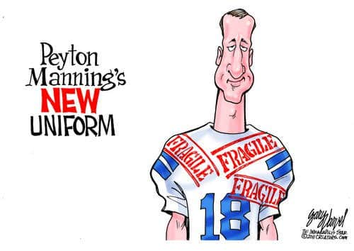 Fragile Peyton Manning Considering a New Uniform?