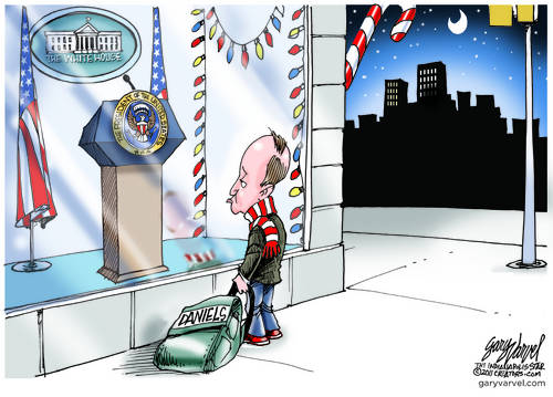 Mitch Daniels Goes Window Shopping For Christmas, Considers A New Podium