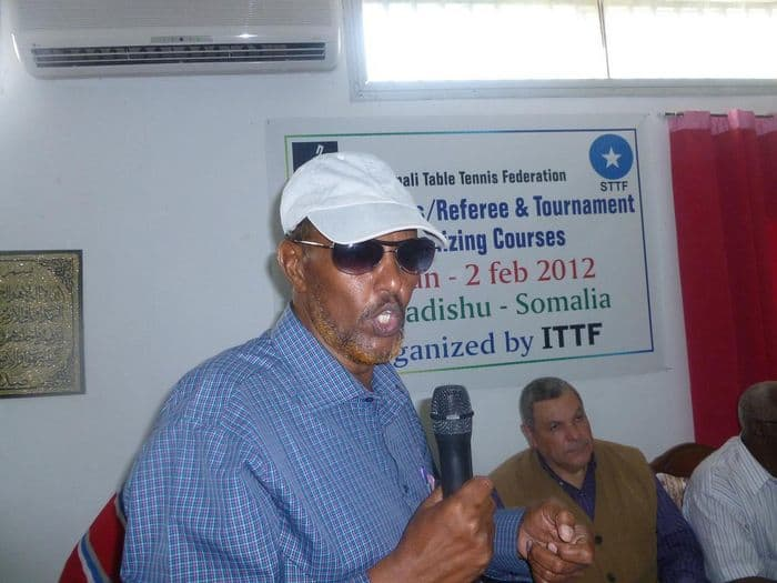 Somali Table Tennis Federation acting president Abdullahi Isse