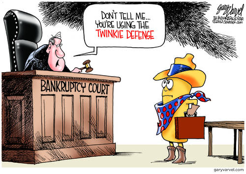 In Bankruptcy Court, The Twinkie Defense Works Every Time