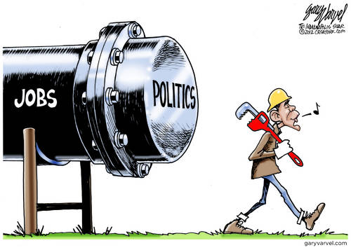 Obama Keystone XL Pipeline cartoon
