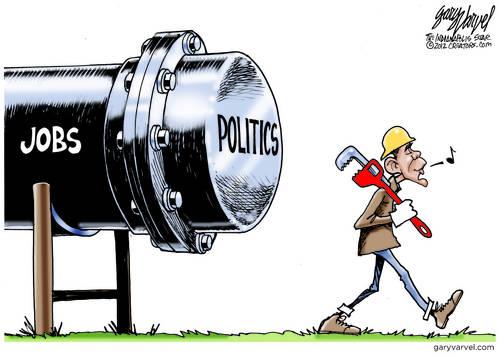 Obama Keystone XL Pipeline cartoon