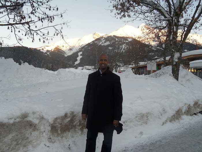 Somali Sports Press Association President Abdi Aziz Godah Barre in Innsbruck