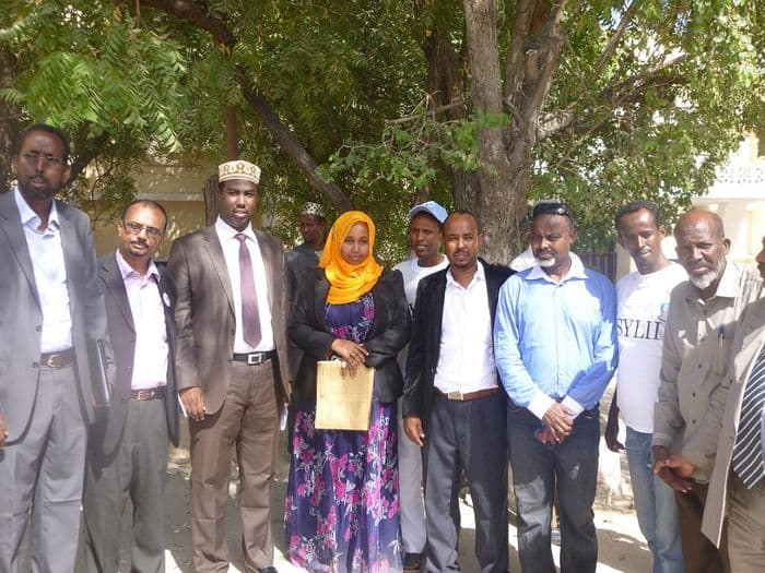 SYL II chairwoman Eyni Ahmed with government officials.