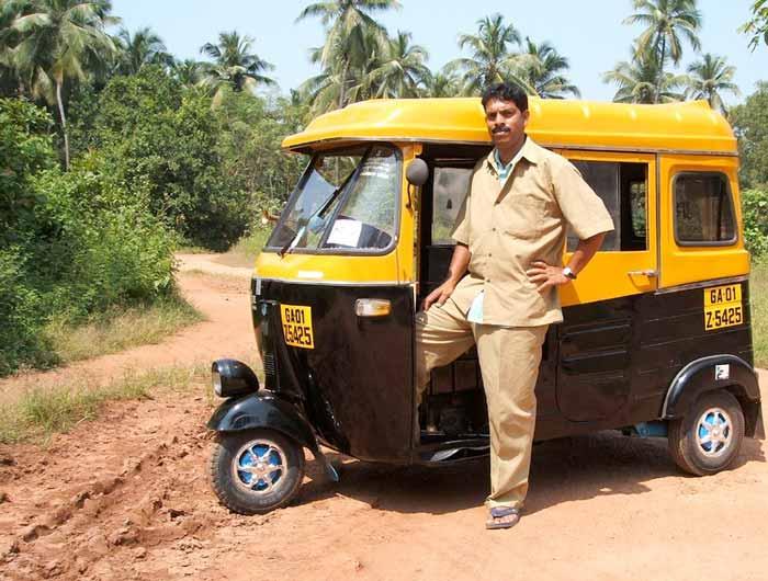Appa's Bajaj autorickshaw. Photo c/o Women's Feature Service.
