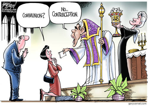 Change For The Church. Obama Replaces Communion With Contraception