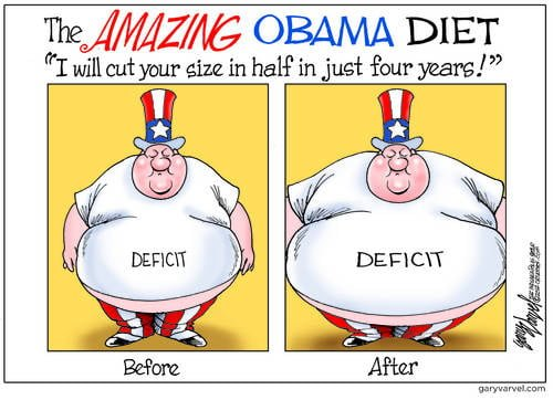 The Amazing Obama Diet, Cutting Your Growing Deficit