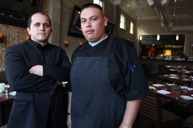 Vito Tabbatlbai and Excutive Chef Junior Perez