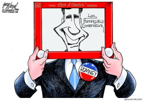 Romney Breaks Out The Etch A Sketch To Prove His Conservatism