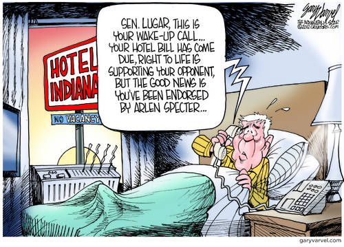 Senator Lugar Not Happy With His Wakeup Call