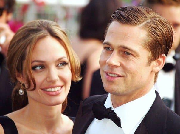 Brad Pitt and Angelina Jolie. Georges Biard, CC BY-SA 3.0, via Wikimedia Commons