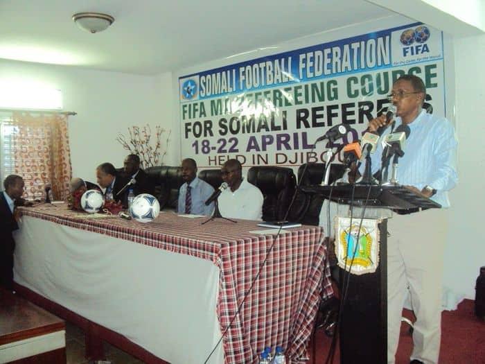 Djibouti FA president Hussein Fadoul Dabar