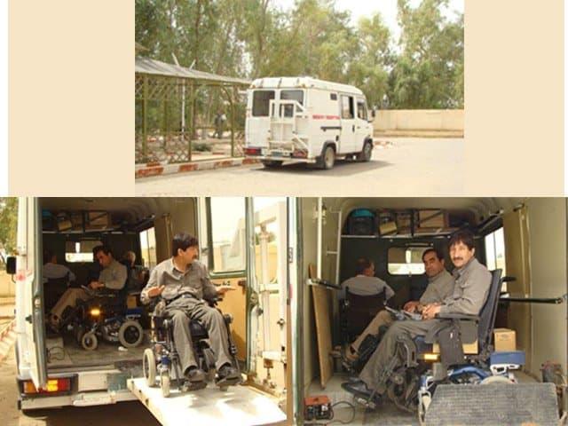 Handicaped residents of Ashraf 1001