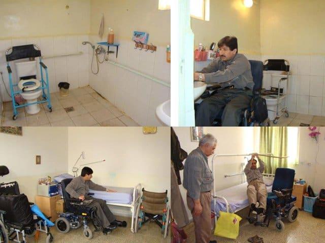 Handicaped residents of Ashraf 3002