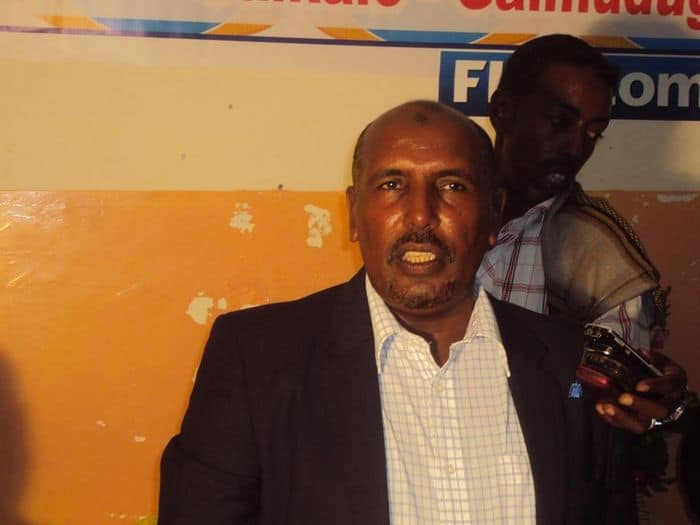 SFF deputy president Abdullahi Abow Hussein