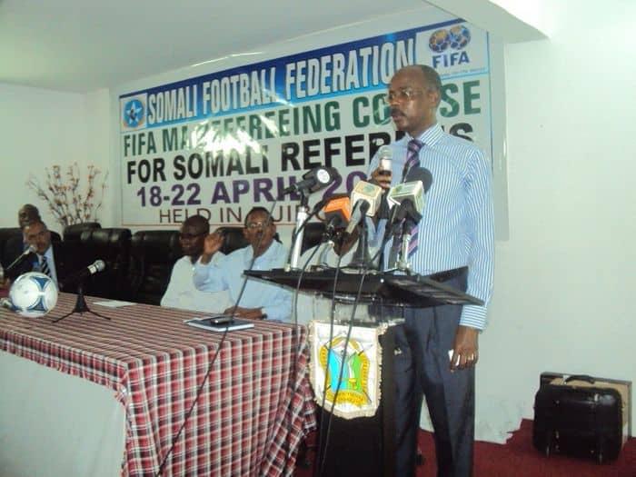 Somali acting ambasador to Djibouti Abdirahman Mohamed Hirabe