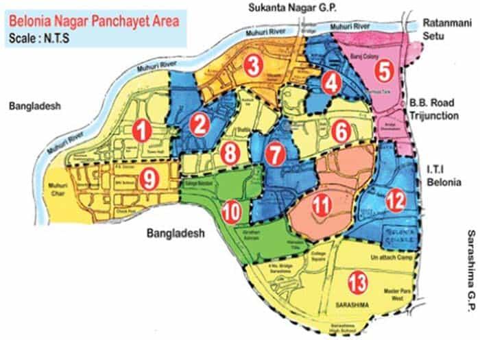 belonia nagar panchayat area