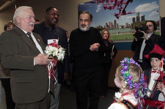 lech Walesa welcomed at Chrysler April 26 2012