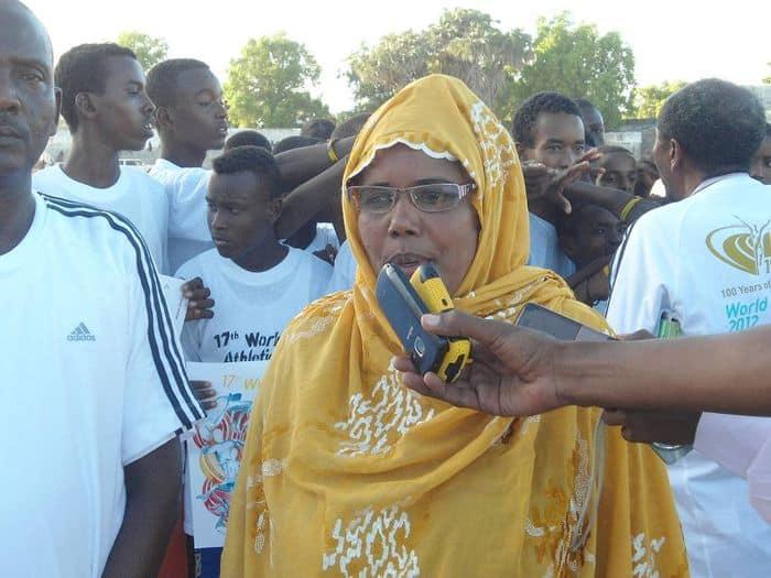 SAF senior vice president Khadija Aden Dahir