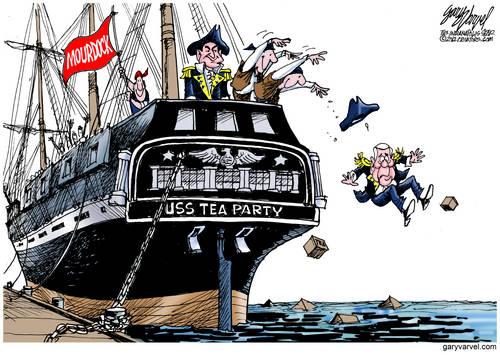 Capt. Mourdock Has USS Tea Party Crew Throw Capt. Lugar Overboard