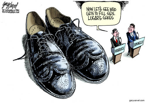 Mourdock and Donnelly Discover Senator Lugar Wears Big Shoes