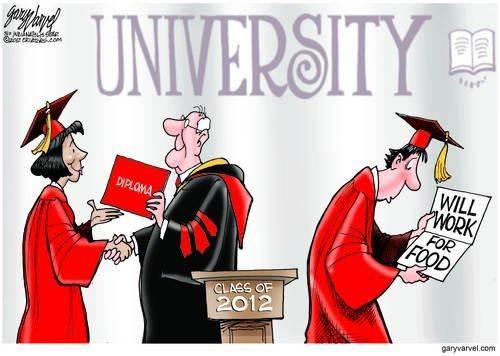 Good News More Kids Graduate. Bad News, No Jobs
