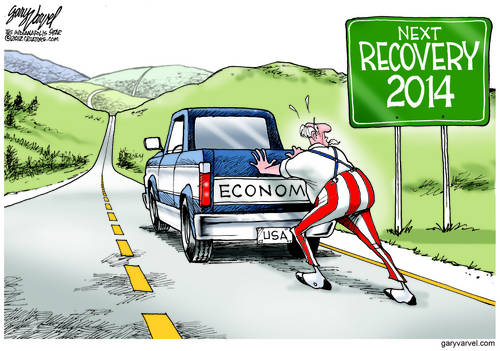Uncle Sam Pushes Economy Truck On Route 66, Discovers A Minor Problem