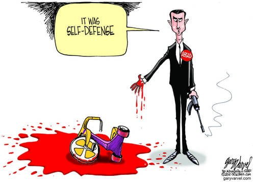 With Deadpan Face, Assad Assures The World They Only Fire In Self Defense
