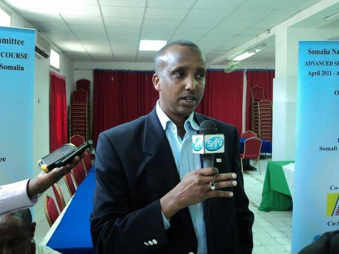 Somali NOC President Duran Ahmed Farah