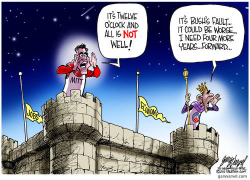King Obama and Prince Mitt Shout Out From The Castle Ramparts, Its All Someone Elses Fault