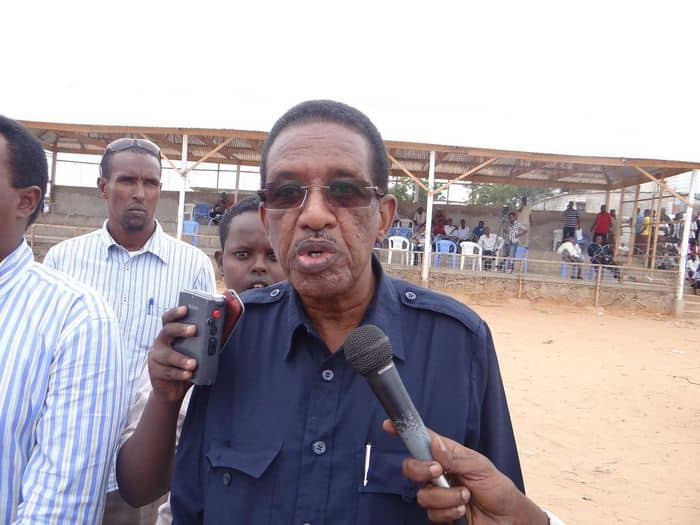 State minsiter for sport Prof Abdullahi Sheik Ali
