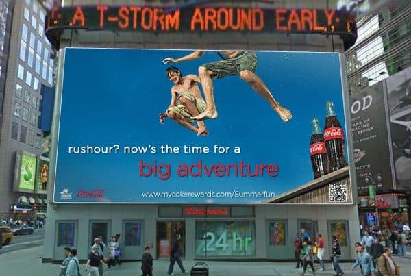 Billboard at Times Squre of Danny Rawley