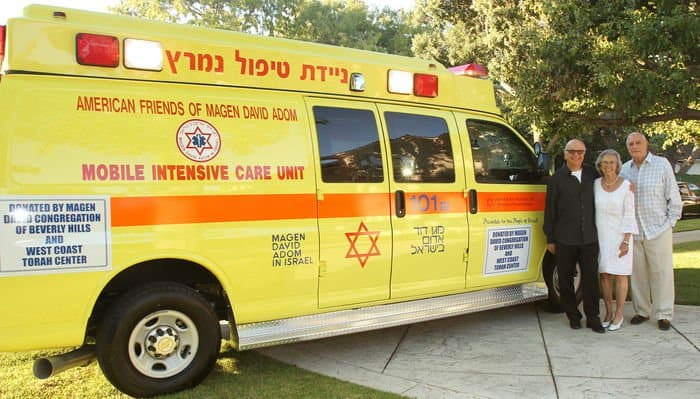 intensive care unit ambulance for Magen David Adom