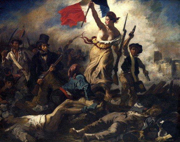 Eugene Delacroix La Liberte guidant le peuple 1830 590x467