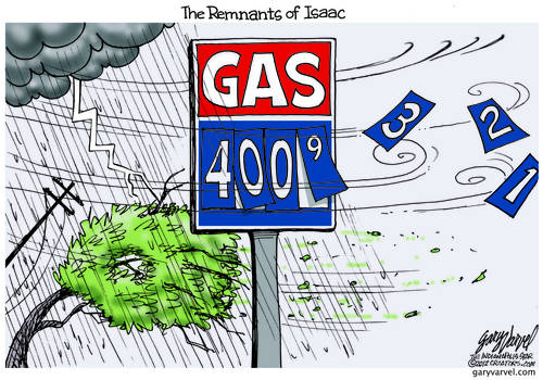 Unwanted Visitor: Isaac Pushes Gas Prices Up